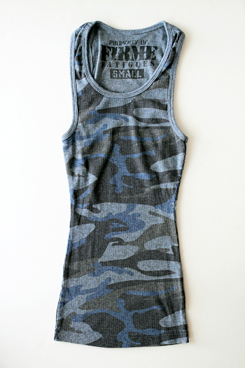 Firme Fatigues | Girls Blue Camo Tank Top