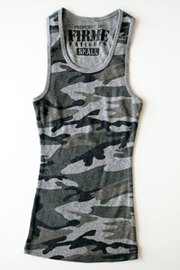 Firme Fatigues | Girls Grey Camo Tank Top