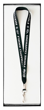Firme Clothing | Paisey Black Lanyard