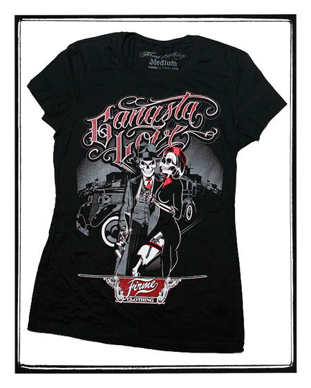 Firme Clothing | Girl's Gangsta Love Graphic Tee