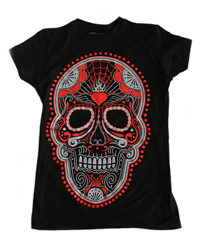 Girls Sugar Skull Graphic Tee
