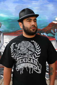 Mexican Eagle Grey Graphic T-Shirt