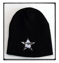 Firme Clothing | Zapata Star Solid Black Beanie